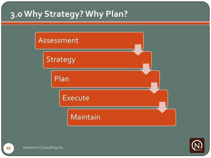 3.0 Why Strategy? Why Plan?               Assessment                   Strategy                        Plan               ...