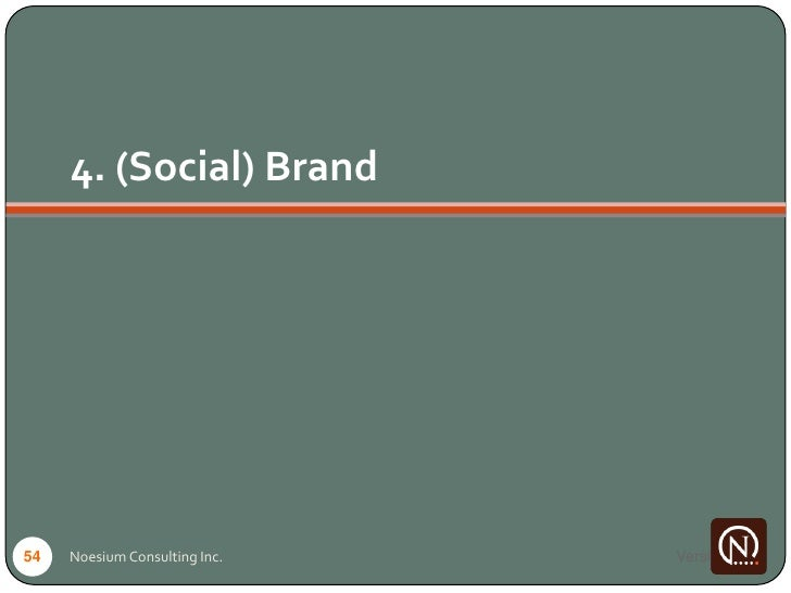 4. (Social) Brand     54   Noesium Consulting Inc.   Version 1