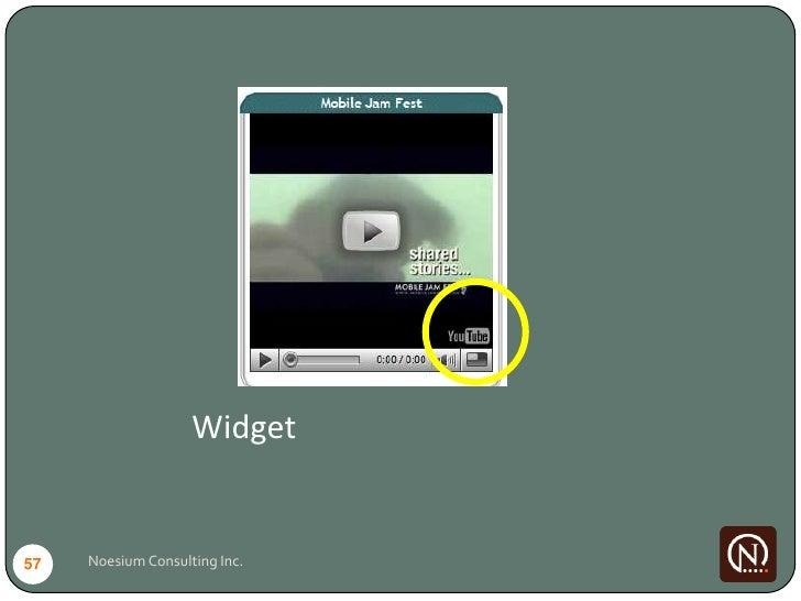 Widget   57   Noesium Consulting Inc.