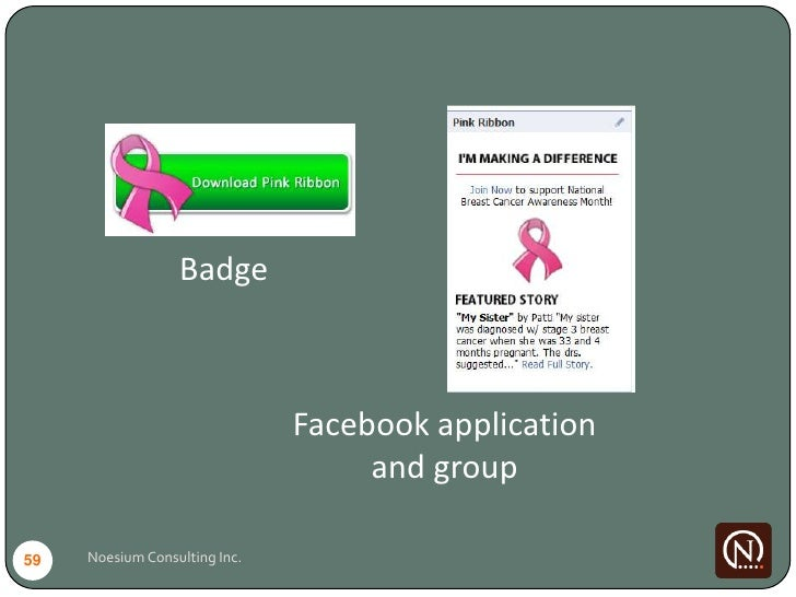 Badge                                   Facebook application                                     and group  59   Noesium C...