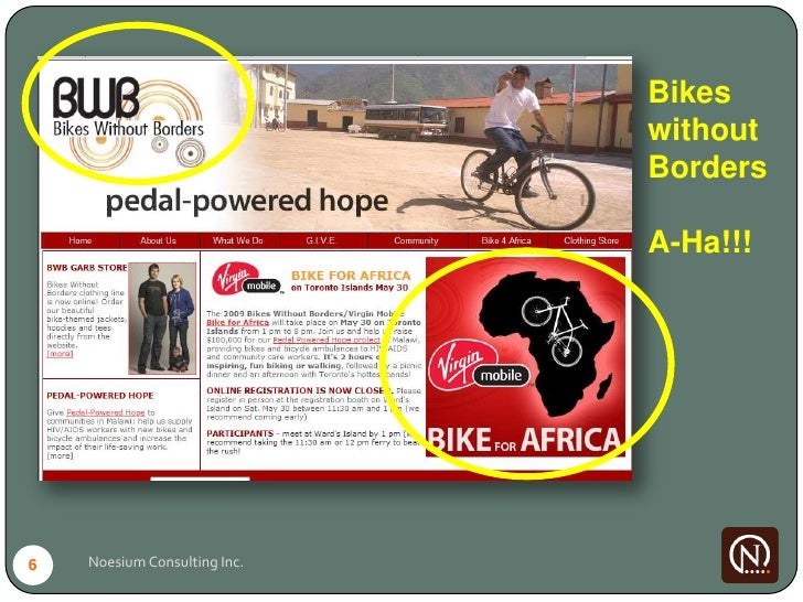 Bikes                               without                               Borders                                A-Ha!!!  ...