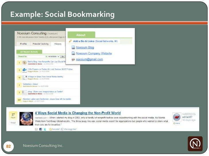 Example: Social Bookmarking     82   Noesium Consulting Inc.