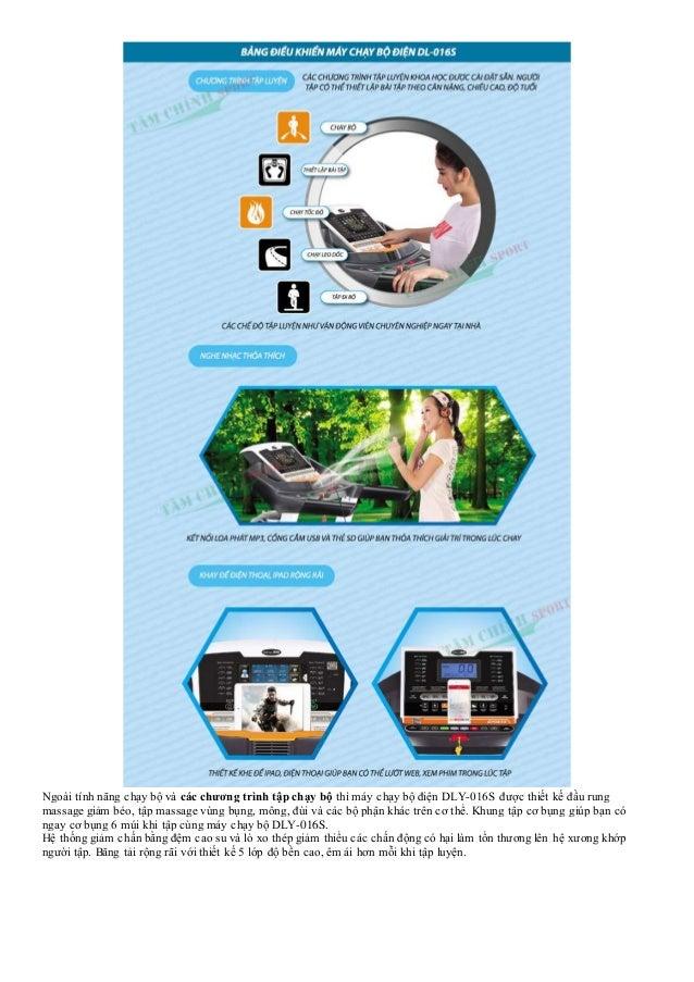 Ngoài tính năng chạy bộ và các chương trình tập chạy bộ thì máy chạy bộ điện DLY-016S được thiết kế đầu rung massage giảm ...