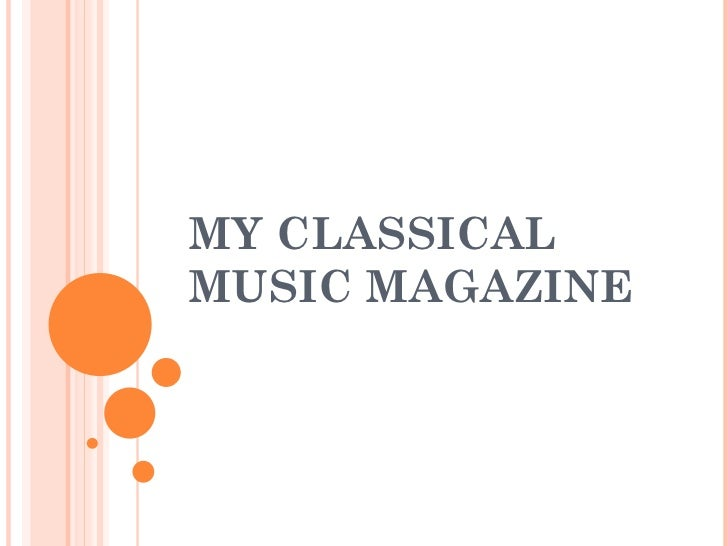 MY CLASSICAL MUSIC MAGAZINE