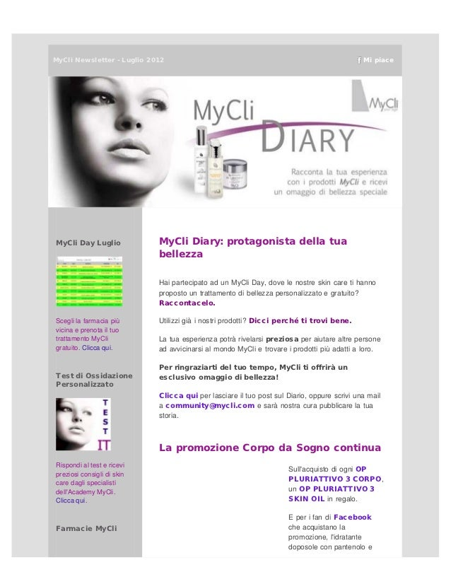 MyCliNewsletter - Luglio 2012                                                              Mi piaceMyCli Day Luglio      ...