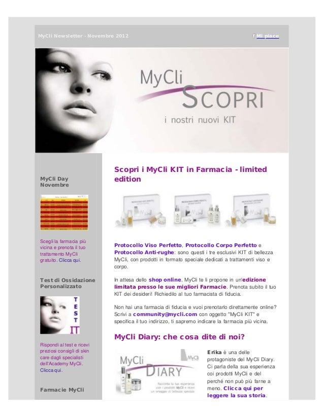 MyCliNewsletter - Novembre 2012                                                          Mi piace                        ...