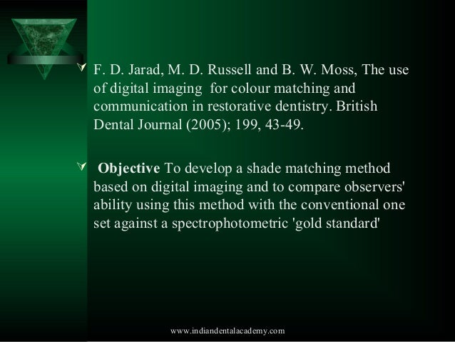 Fundamentals of Color Shade Matching and Communiation in Esthetic Dentistry