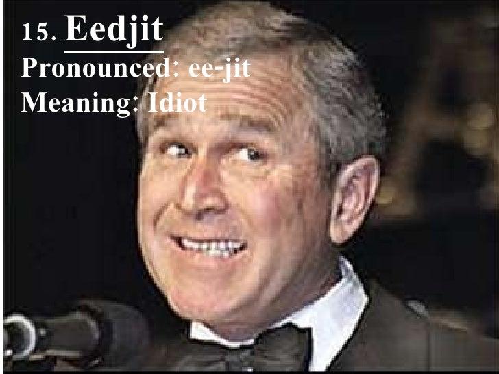 15.  Eedjit Pronounced: ee-jit Meaning: Idiot