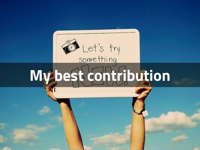 My best contribution