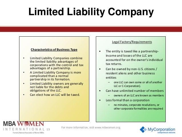 characteristics of limited liability company