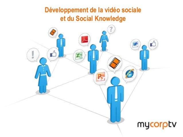 MyCorpTVDéveloppement de la vidéo socialeet du Social Knowledge