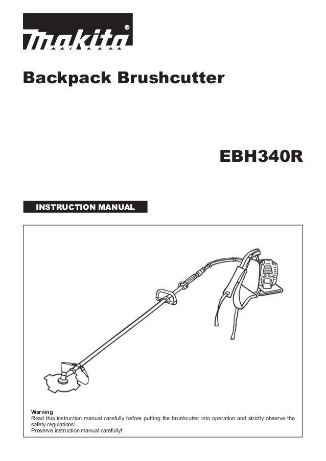 Máy cắt cỏ chạy xăng, đeo vai ebh340 r introduction manual