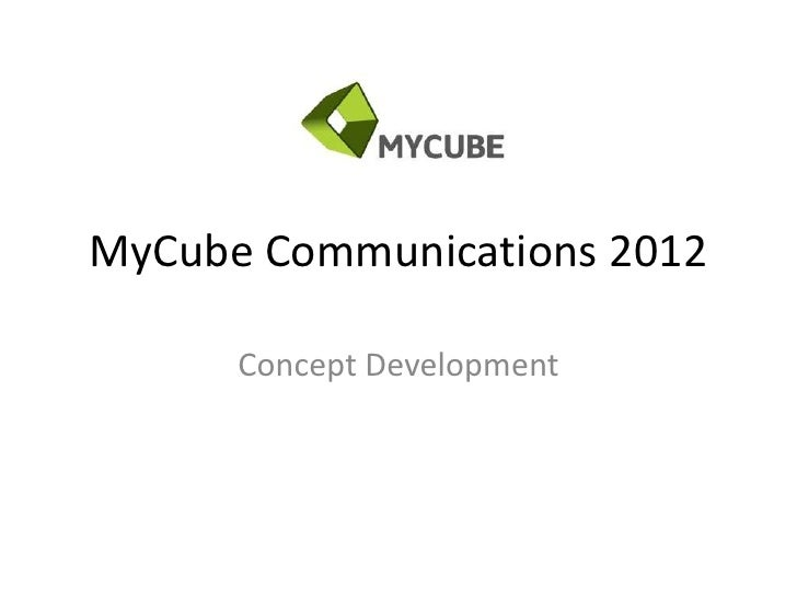MyCube Communications 2012      Concept Development