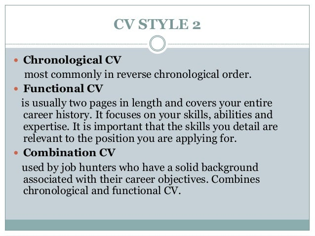 Define Reverse Chronological Resume