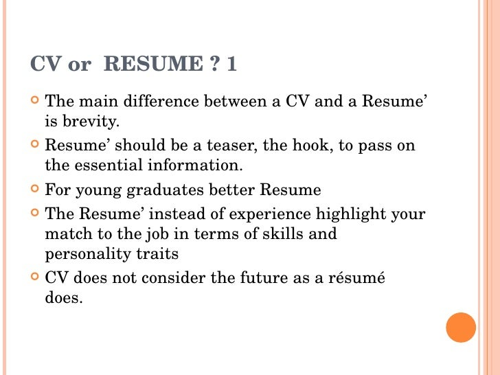 CV Or RESUME ?  Difference Between Resume And Cv