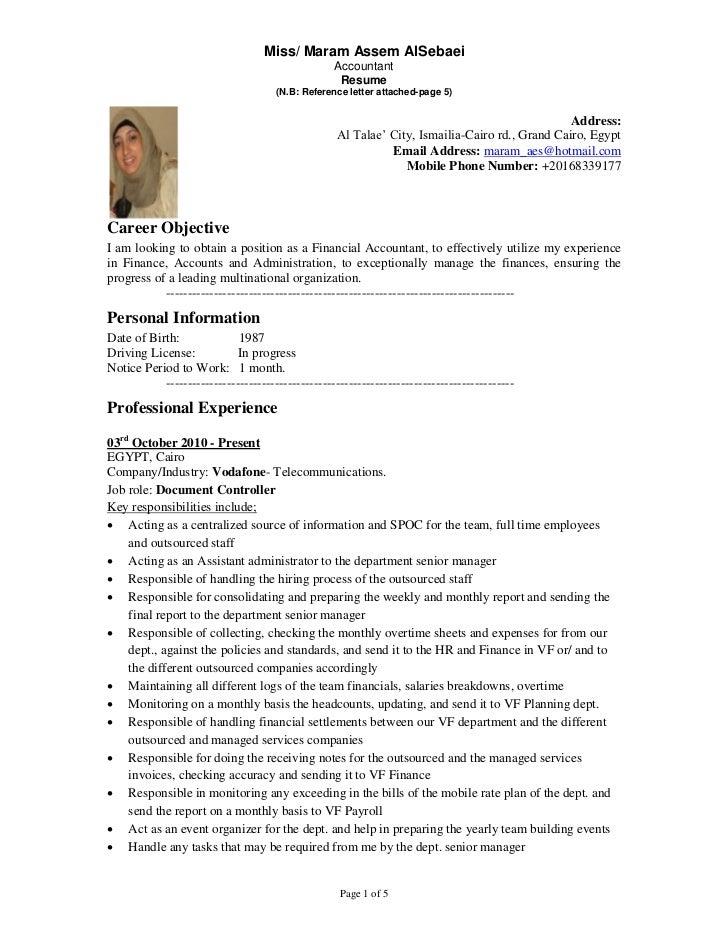 Miss/ Maram Assem AlSebaei                                                  Accountant                                    ...