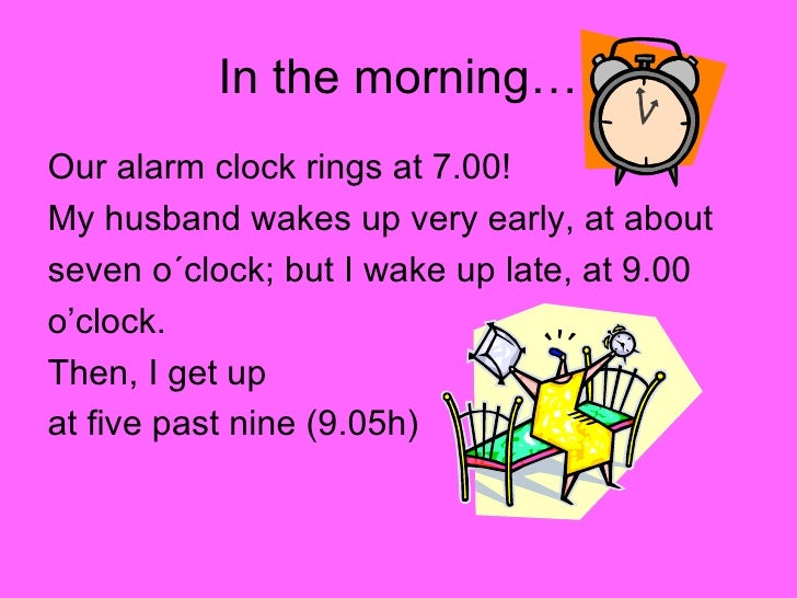 daily routine presentation