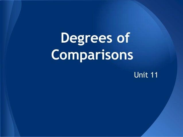 Degrees ofComparisonsUnit 11