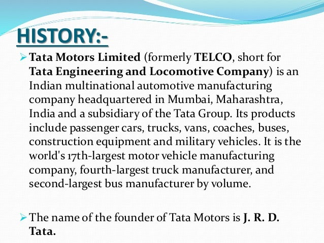 tata motor company As for the company's commercial vehicles sales, tata motors performance in the domestic market continued to be exemplary the company cv sales for april 2018.