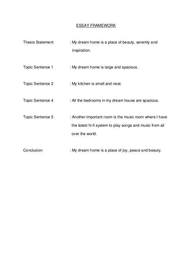 essay framework thesis statement my dream. Resume Example. Resume CV Cover Letter