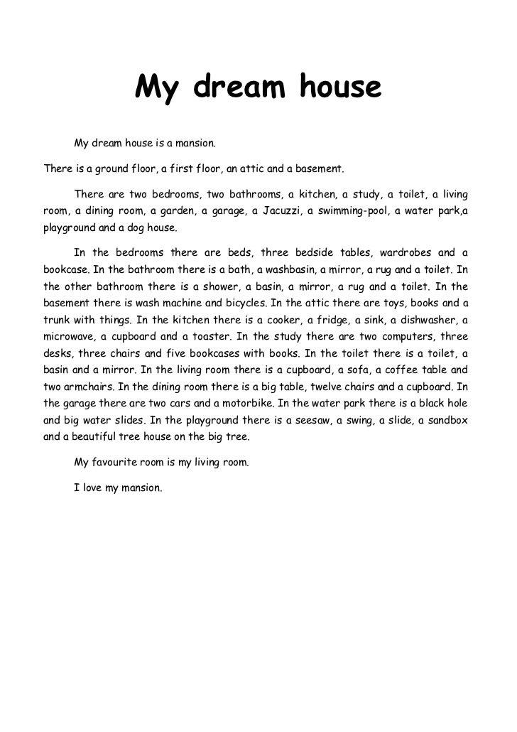 an essay on my dream house