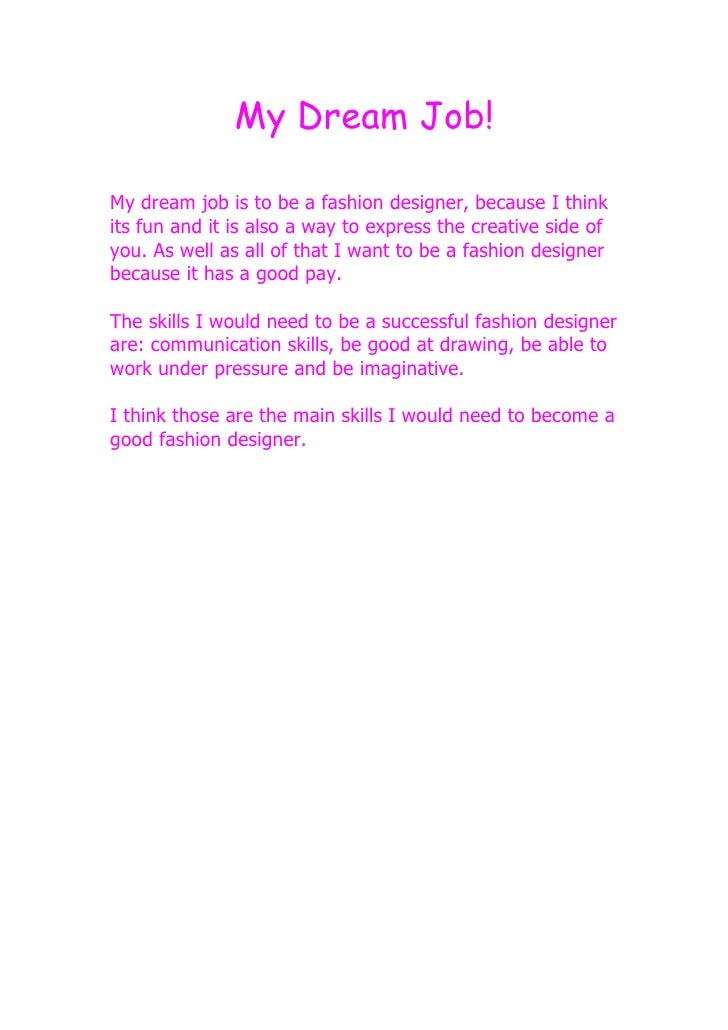Essay On My Dream To Become An Artist