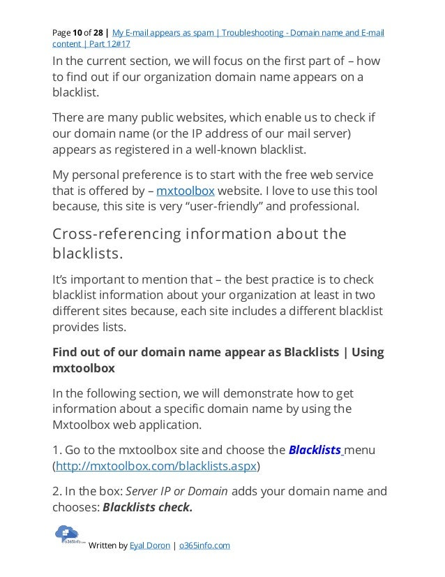 My E-mail appears as spam | Troubleshooting - Domain name and E-mail …