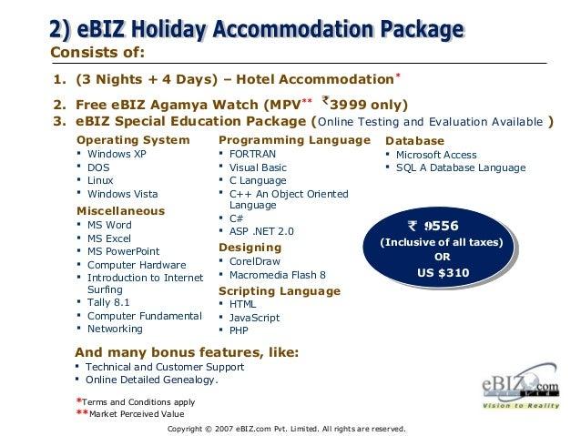 Ebiz Com Pvt  Ltd   Latest Ppt 2013