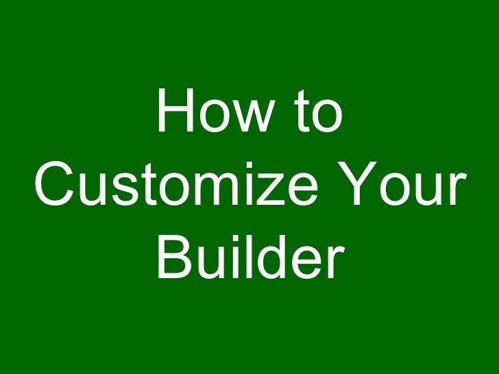 My-eCoach Customize Builder Slide 2
