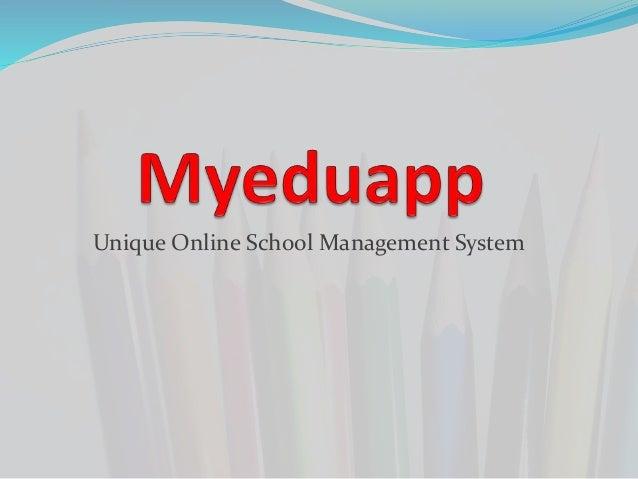Online School Management Software - Myeduapp