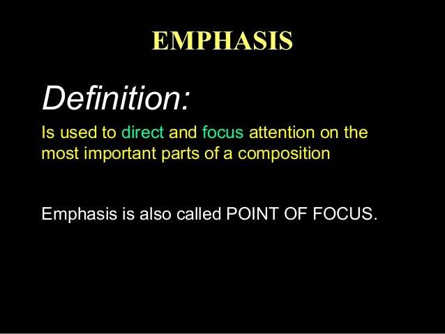Emphasis In Fashion Design
