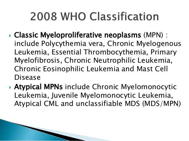 Myeloproliferative disorders Slide 3