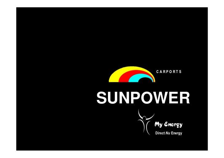 CARPORTSSUNPOWER    My Energy     Direct Nu Energy