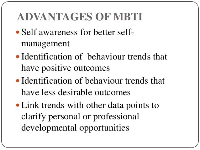 Myers Briggs Type Indicator Term paper