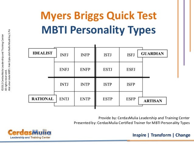 myers briggs personality types essay In the year 1962, psychological pioneers katharine cook briggs and her daughter isabel briggs myers published one of the first modern personality assessment.