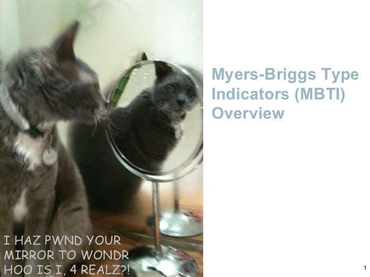 Myers-Briggs Type Indicators (MBTI) Overview I HAZ PWND YOUR MIRROR TO WONDR HOO IS I, 4 REALZ?!