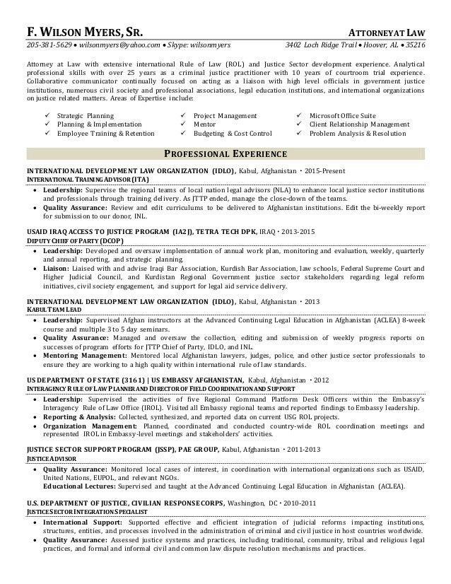 myers short resume 03 16