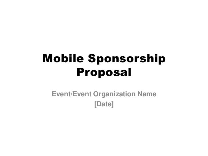 Event Mobile App Sponsor Proposal Template – Proposal for Sponsorship Template