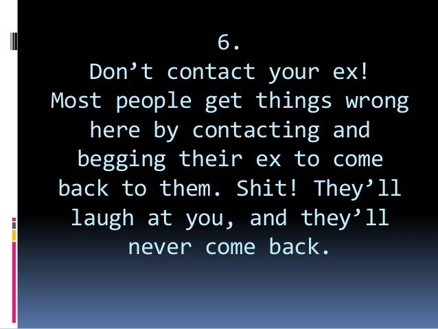 Contacting your ex