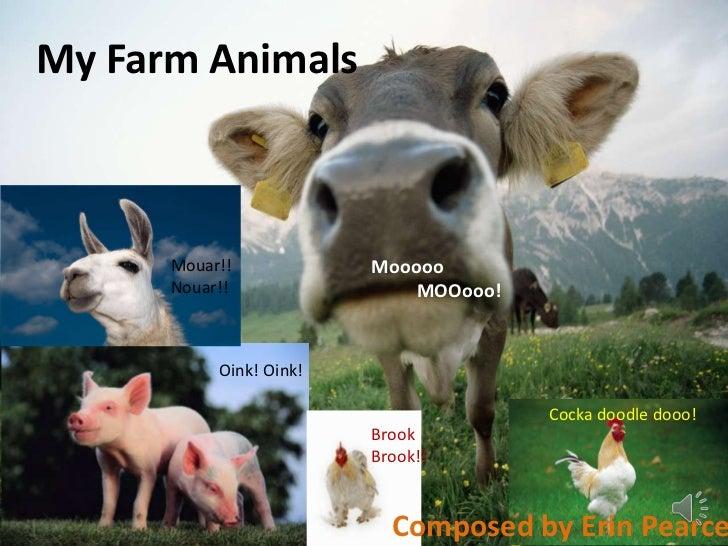 My Farm Animals      Mouar!!            Mooooo      Nouar!!                MOOooo!           Oink! Oink!                  ...