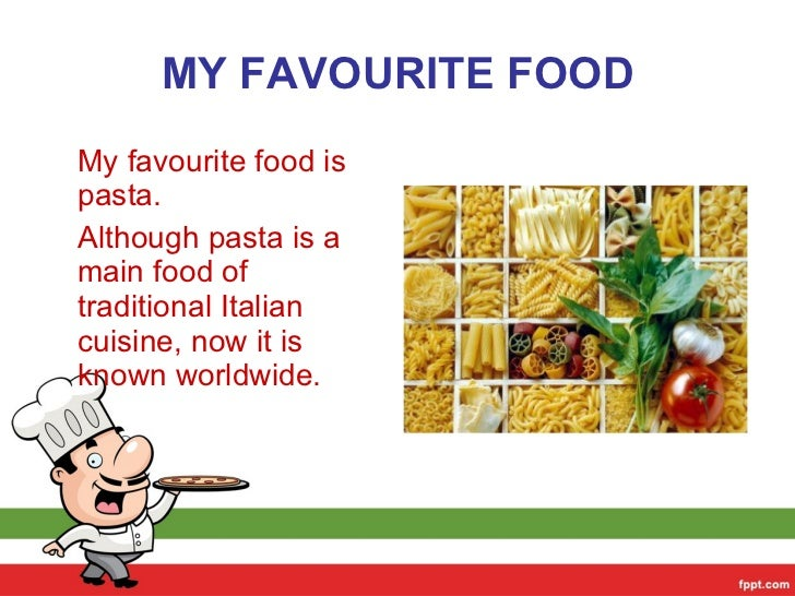 Essay on my favourite food pasta