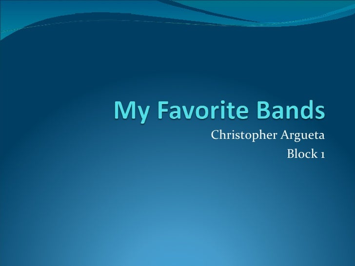 Christopher Argueta Block 1
