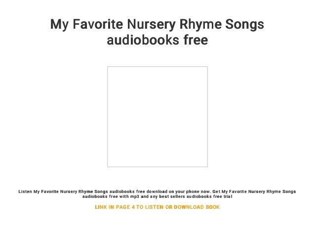 My Favorite Nursery Rhyme Songs Audiobooks Free