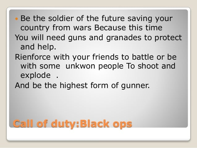  Be the soldier of the future saving your  country from wars Because this time  You will need guns and granades to protec...