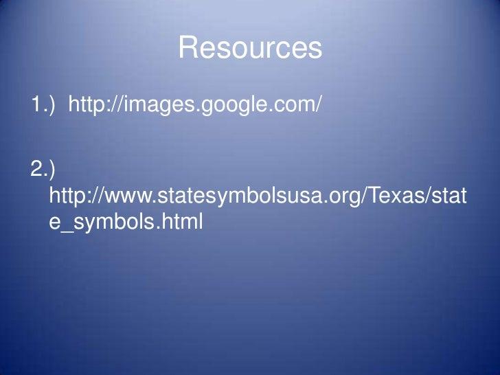 Miss Golmans Favorite Texas State Symbols