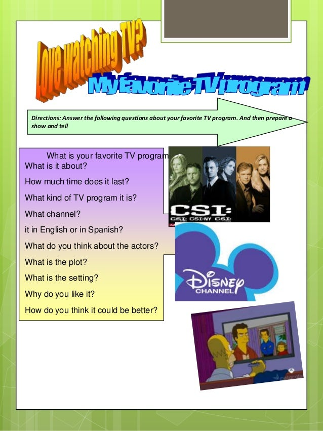 write an essay about your favourite tv programme