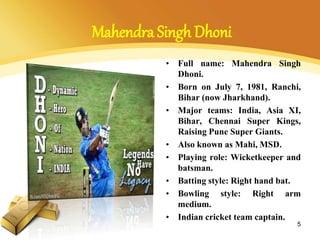 essay on my favourite sportsman dhoni