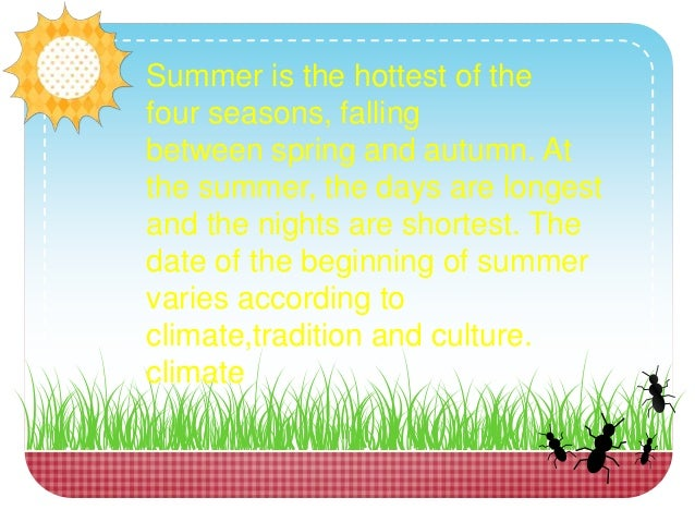 why is summer your favorite season Sing and learn the four seasons spring, summer, fall, and winter, in this fun song for kids get this song on itunes:   please subscribe t.