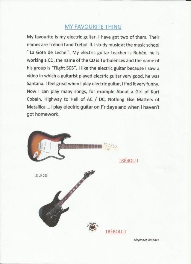 My favorite music essay