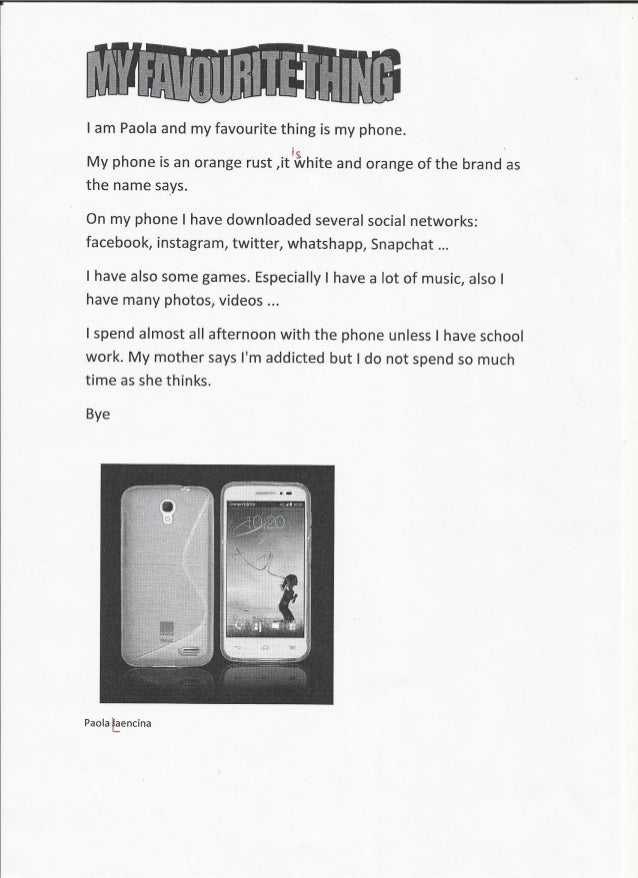 my favourite mobile phone essay